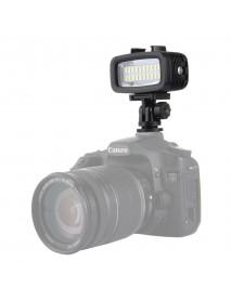 PULUZ PU222 20 LEDs 30m Waterproof IPx8 Studio Light Video Light with Hot Shoe Base Adapter