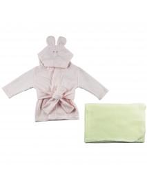 Fleece Robe and Blanket - 2 Pc Set