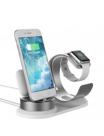 3 In 1 Aluminum Alloy Charging Station Desktop Phone Holder For iPhone/Apple Watch/Apple AirPods