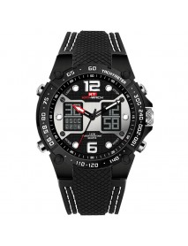 KAT-WACH KT717 Dual Display Digital Watch Cozy Silicone Strap Luminous Chronograph Men Sport Watch