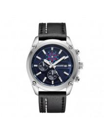 BAGARI 8002P Multi-function Unique Design Sports Watch Genuine Leather Waterproof Men Watch Quartz Watch
