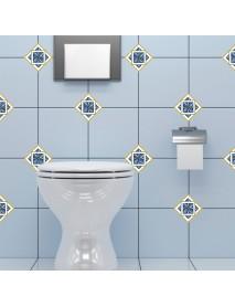 Loskii SK34017 21Pcs 8CM 3D Bathroom Kitchen Waist Line Art Mural Floor Tiles Diagonal Wall Sticker Tile Vinyl Wall Decals