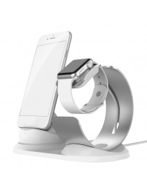 2 In 1 Aluminum Alloy Charging Dock Station Phone Holder Watch Holder For iPhone/Apple Watch