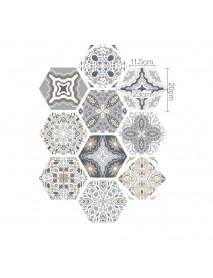 3D Simulation Hexagonal Tiles Stickers Decals Self-adhesive Non-slip Wear-resistant Floor Stickers Home Renovation Decor Art Patchwork Sticker