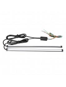 Silica Gel Waterproof Universal 4 Modes Flexible Switchback Flowing Car Lights Automobile DRL LED Knight Rider Turn Signal Brake Light Strip