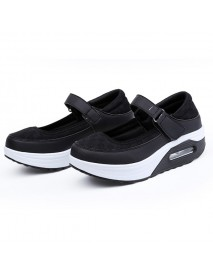 Breathable Rocker Sole Hook Loop Platform Shake Sport Shoes