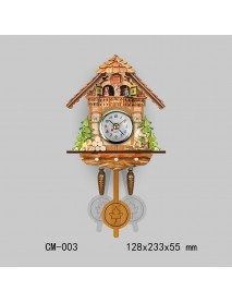 Cuckoo Wall Clock Bird Decorations Home Cafe Art Vintage Chic Swing