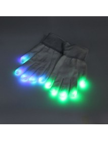 7 mode LED Finger Gloves Lighting Flashing Rave Decoration Toys Dance Party