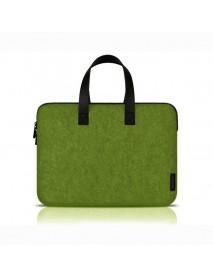 15.4 inch green simple fashion felt Laptop Bag