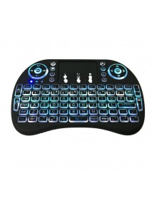2.4GHz Wireless 7 Colors Rainbow Backlight Keyboard With Touchpad Mouse For TV Box/Smart TV/PC