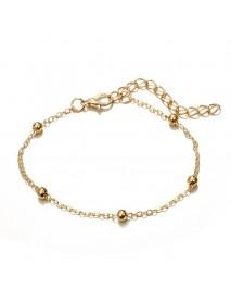 4 Pcs Gold Women Bracelet Set Casual Fashion Style Fruits Bracelet Shell Letter Pendant Bracelet