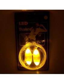 1 Pair LED Light Bestselling 80CM Flash Luminous Fashionable Glass Fiber Cool Design Shoelaces