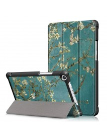 Apricot Blossom Tri Fold Case Cover for 8 Inch Huawei Honor 5 8 Inch Tablet
