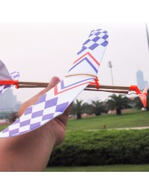 10 PCS DIY Foam Elastic Powered Glider Plane Toy Thunderbird Flying Model Aircraft Toy