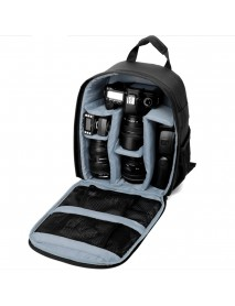 DSLR Camera Lens Storage Backpack Water-resistant Case Bag with Padded Bag