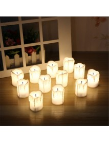 12Pcs LED Tea Light Candle Tea Light Flameless Flickering Battery Decorations