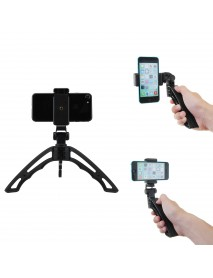 APEXEL APL-TRI Mini Desktop Multi-directional Adjustable Handheld Tripod with Clip for Smartphones