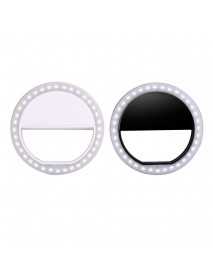 Portable LED Ring Flashlight Camera PhotographY-adapter For IPhone Mobile Phone