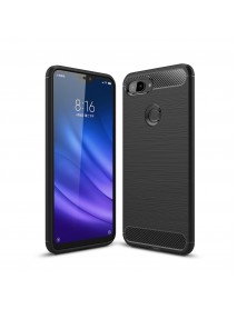 Bakeey Carbon Fiber Shockproof Silicone Back Cover Protective Case for Xiaomi Mi 8 Lite 6.26 inch