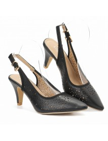 LOSTISY Women Hollow Out Pointed Toe Slingback Elegant Office Pumps