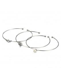 JASSY 3 Pcs/set 925 Sterling Silver Bracelet Tree of Life Angel Wings Pearl Bangle Bracelet