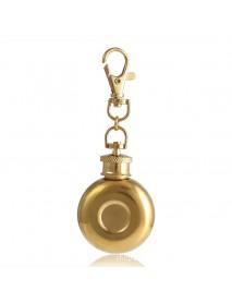 1oz 28ml Mini Stainless Steel Round Hip Flask With Keychain Liquor Alcohol Whiskey W-ine Pot