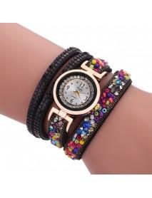 Sloggi colorful stone winding bracelet watch diamond winding female bracelet