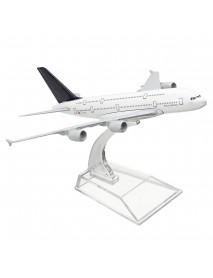 1:400 Alloy Plane Model Aircraft A380 Lufthansa Aeroplane Scale Desk Toys 16cm