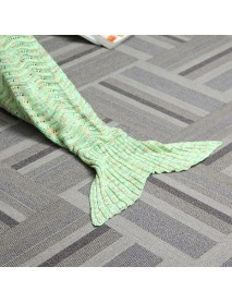 180*90CM Wave Yarn Knitting Mermaid Tail Blanket Birthday gift Blanket Bed Mat Sleep Bag