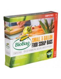 Biobag Compost Waste Bag 3 Gal (12x25 CT)