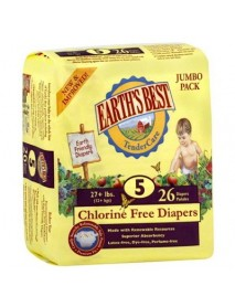 Earth's Best Tendercare Diapers Size 5 (4x26 CT)