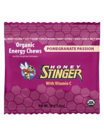 Honey Stinger Organic Pomegranate Passionfruit Chews  (12x1.8 OZ)