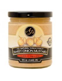 AJ's Natural Walla Walla Sweet Onion Mustard with Chipotle (6x9 OZ)
