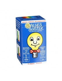 Blues Buster Full Spectrum Light Bulb Frosted 75 Watt (1x1 EACH)