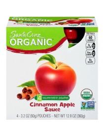 Santa Cruz Organic Apple Sauce Cinnamon (6X4 Ct)