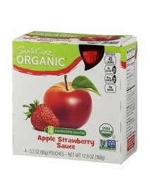 Santa Cruz Organic  Apple Strawberry Sauce (6X4 Ct)