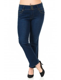 Diamante Women's Jeans - Plus Size - High Waist - Push Up - Style B925L1 - Size:14