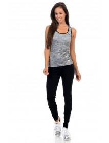 Diamante Women's Yoga Top Sportswear - Style ACDN002-2 - Size:one size