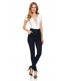 Diamante Women's Jeans - Push Up - Style 7318HW - Size:0