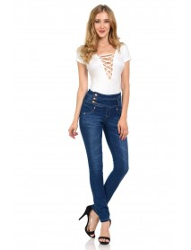 Diamante Women's Jeans - Push Up - Style G819 - Size:0