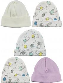 Bambini Girls Baby Cap (Pack of 5)