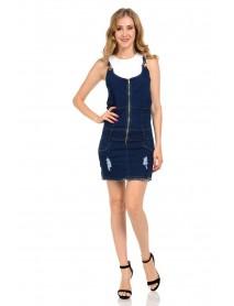 M.Michel Women's Denim Dress - Style A5194-R - Size:Large