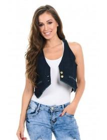 M.Michel Women's Denim Vest - Style 234 - Size:Large