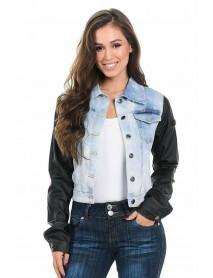 M.Michel Women's Denim Jacket - Style 492 - Size:Large