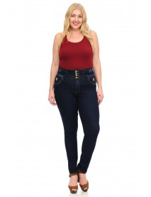 M.Michel Women's Jeans - Missy Size - High Waist - Push Up - Style A10065 - Size:10