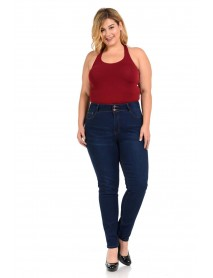 Pasion Women's Jeans - Missy Size - High Waist - Push Up - Style 501 - Size:10