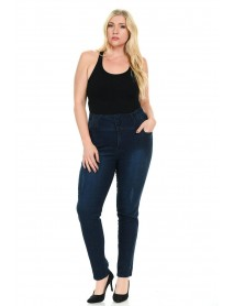 Pasion Women's Jeans - Plus Size - High Waist - Push Up - Style A5140 - Size:14