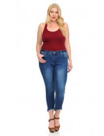 Studio Alpha Women's Jeans - Plus Size - High Waist - Push Up - Style BS05-R - Size:10