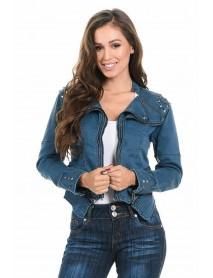 Sweet Look Women's Denim Jacket - Style N559A - Size:Large