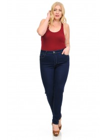 Sweet Look Women's Jeans - Missy Size - High Waist - Push Up - Style A084-2 - Size:10